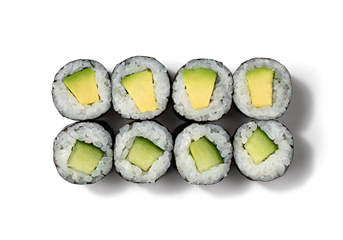 EatHappy - Maki Mix Avocado Gurke (vegan)