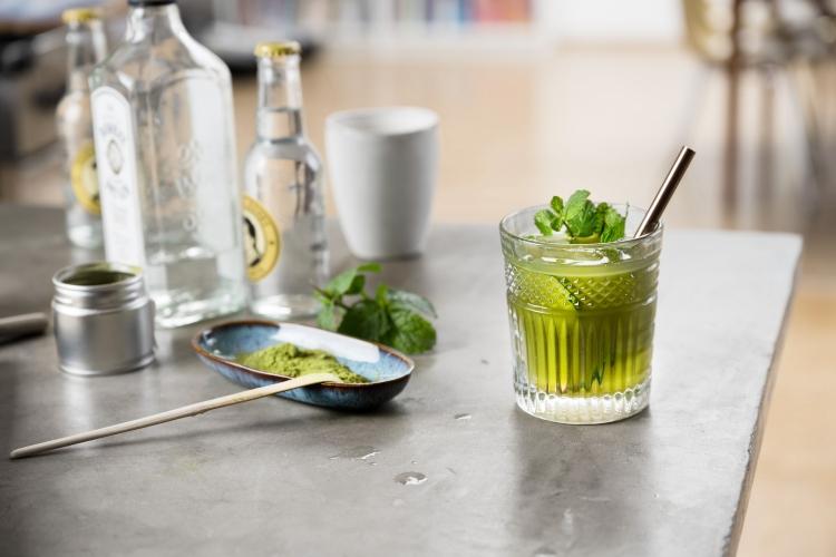 Fertiger Cocktail mit Matcha